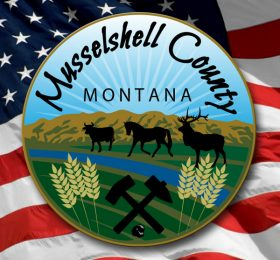 Musselshell County Seal and USA Flag