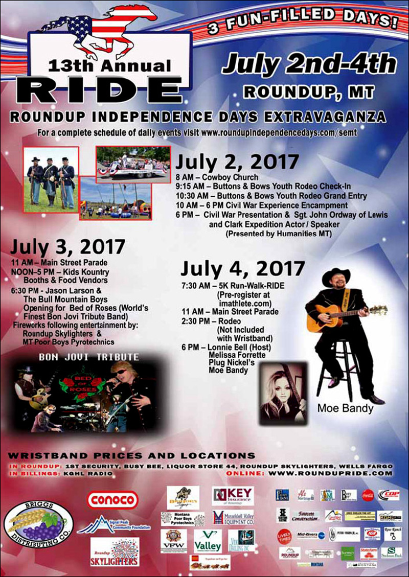 Roundup RIDE 2017 Poster Musselshell County Roundup Montana