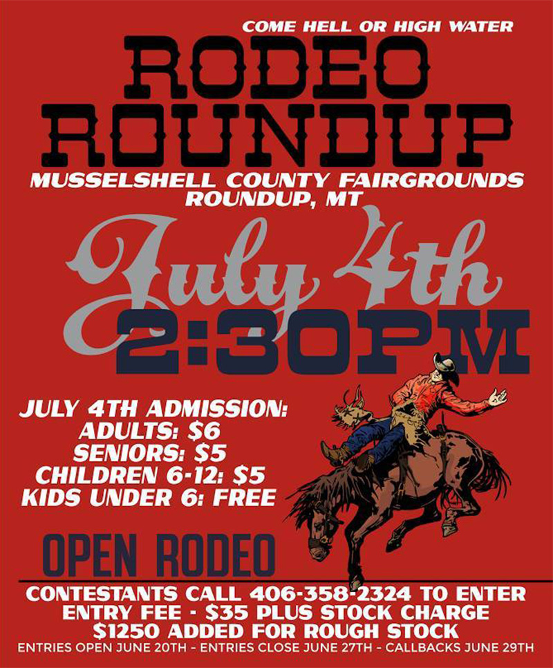 Rodeo Roundup Rodeo in Roundup Montana RIDE July 4 2017 Musselshell County