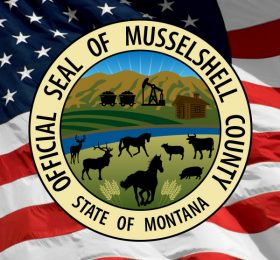 Musselshell County Seal and American Flag