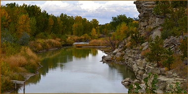 Musselshell River in Musselshell County Montana