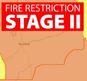 Stage II Fire Restrictions Musselshell County Montana