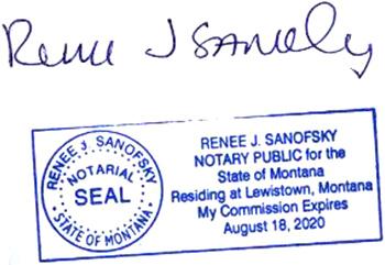 Notary Public Renee Sanofsky