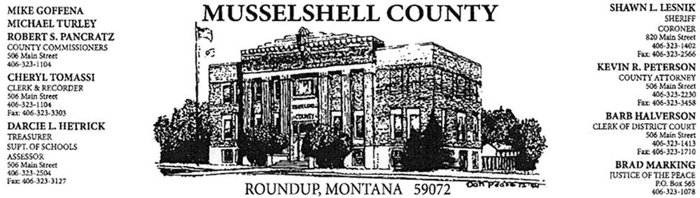 Media Release - RE Second Amendment Sanctuary County - Roundup Record -Tribune